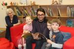 Aldborough Primary School Head Teacher Tina Casburn with children from Class 2 and their teacher Courtenay Caston