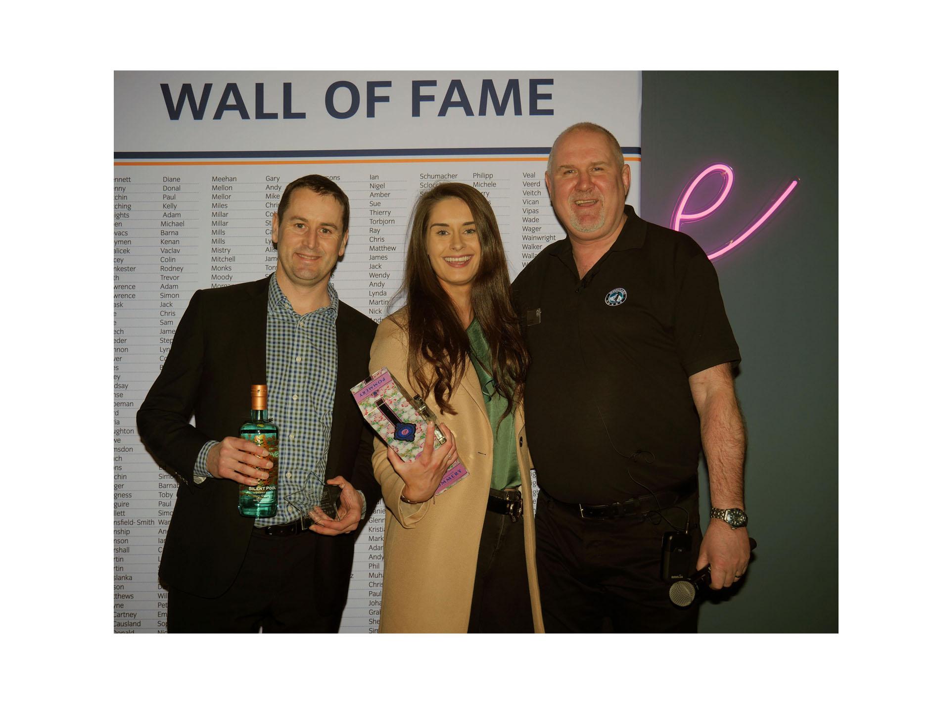 Dan Pratt, left, with Megan Nesbitt and Simon Frost