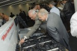 Delegates at the Falcon F900 launch check out the new range