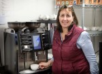 Foxholes' Catherine Smith with the Schaerer Coffee Art machine from Caffeine Limited