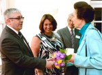 Gordon McIntosh, new managing director of Moffat, meets HRH Princess Anne at Strathcarron Hospice