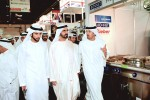 His Highness Sheikh Mohammed Bin Rashid Al Maktoum, the ruler of Dubai, centre, at Gulfood 2014