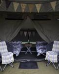 Inside a Margins tent