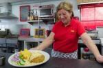 Kay Gelder owner of K's American diner uses Samsung microwaves