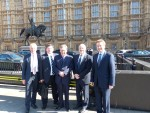 Left to right, Keith Warren, Phil Williams , Lord Trefgarne, Glenn Roberts and Richard Cromwell at Westminster for the meeting with Lord Bridges