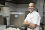 Michel Roux Jr  with the Winterhalter PT machine at Le Gavroche