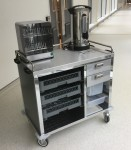 Moffat's breakfast foodservice trolley at Ulster Hospital
