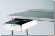 Stainless steel table and drawer from Moffat