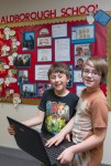 Redmond Shaw, left, and Bruno Reeve, Norfolk's most promising young coders