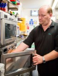 Samsung microwaves used by Glen Whitbread, owner of Nibbles