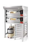 Sirman Vesuvio 2C with optional hood, on bench with Hercules Dough Mixer