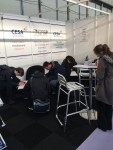Students getting busy with the quiz on the CESA stand at the Great Hospitality Show 2017
