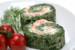Visit commercialmicrowavecookbook.co.uk for Samsung's recipe for smoked salmon and spinach roulade
