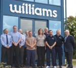 Williams long-serving employees with, far right, Group Managing Director Tim Smith