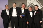 Winterhalter FCSI Award, from left, Duncan Ackery, Event Chairman; Manuel Rehm, Winterhalter Germany; Andy Blake and David Smithson, Winterhalter UK;  Martin Rahmann President FCSI EAME