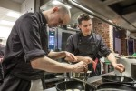 Alistair Dibbs, right, in the Brigade kitchen
